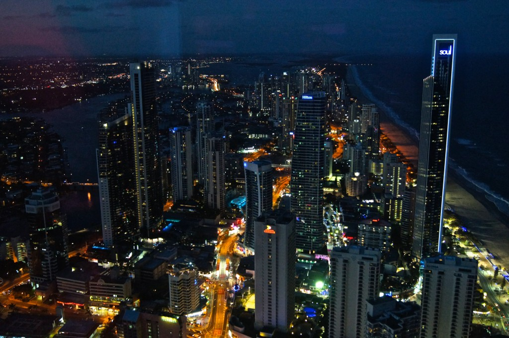 Night view from Skypoint Gold Coast