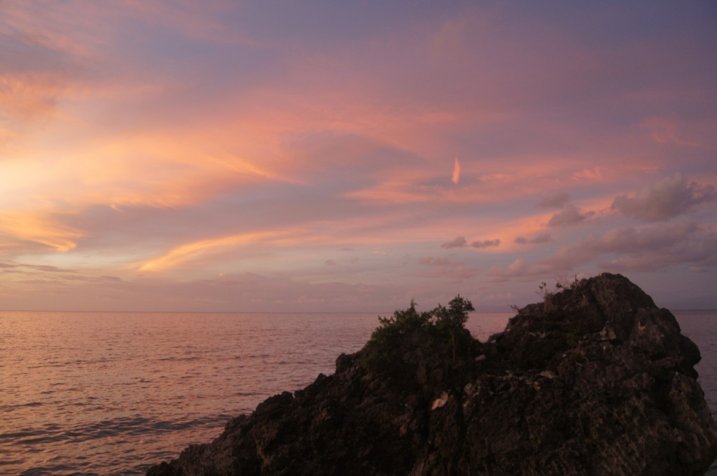 Sunset from the Rock Bar Bali - Copyright