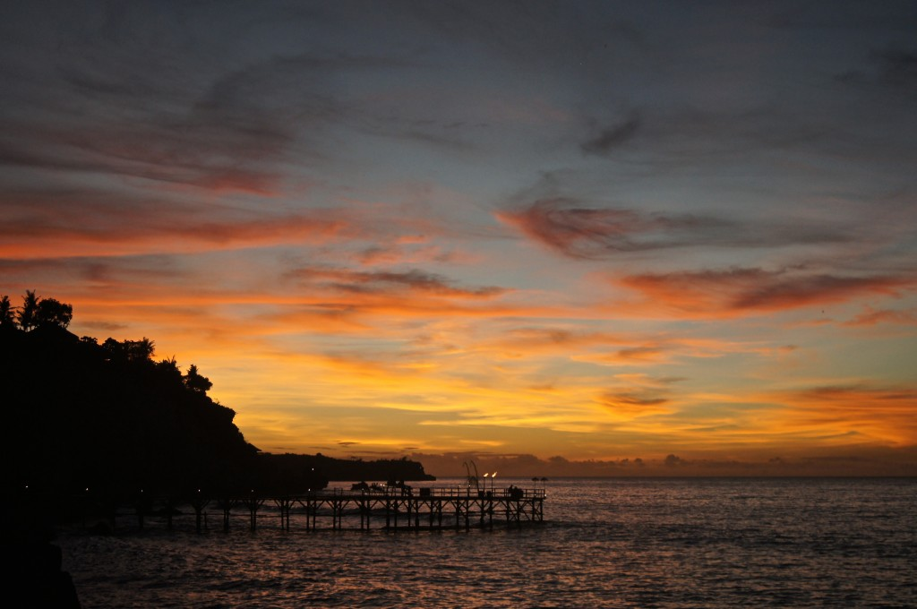 Sunset at the Rock Bar Bali - Copyright