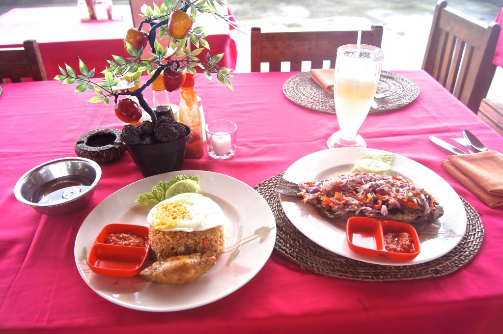 Local lunch at Kintamani Bali - Copyright