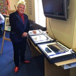 Mayor Darryn Lyons presenting framed copies of photos for the Geelong Calendar competition