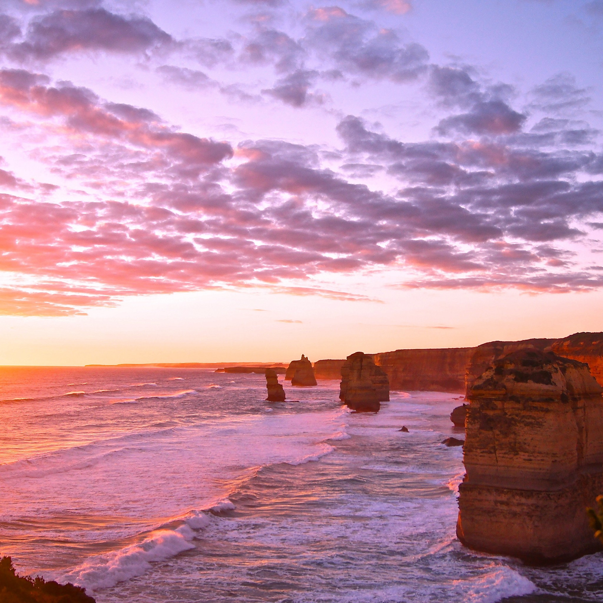 Visiting the 12 Apostles at Sunset