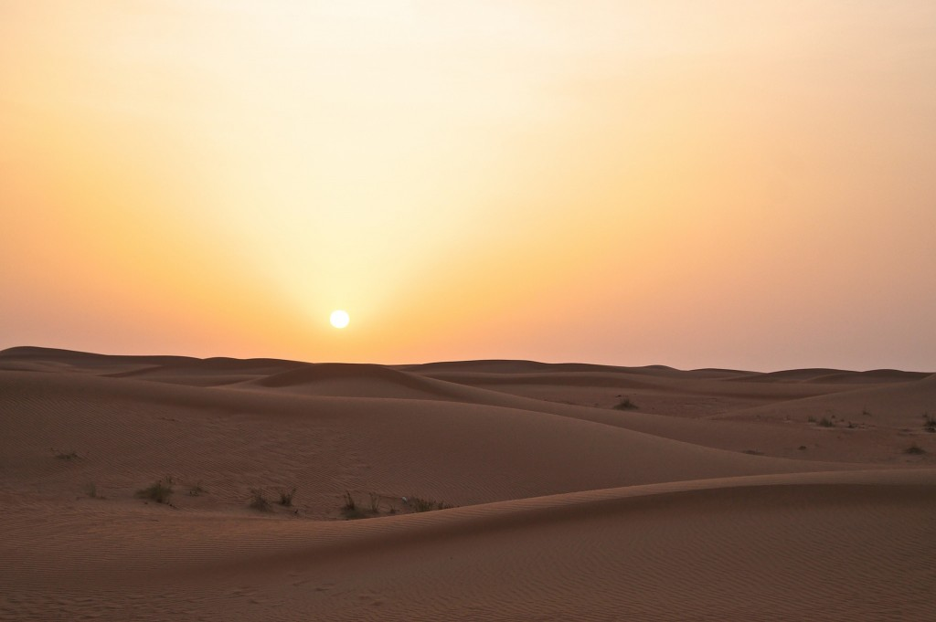 Sunset-over-the-arabian-desert-safari-copyright