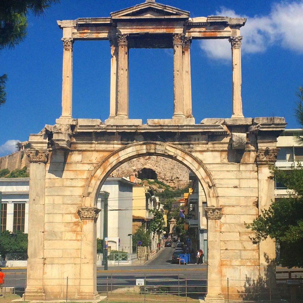 Highlights of Athens Hadrians Arch - copyright