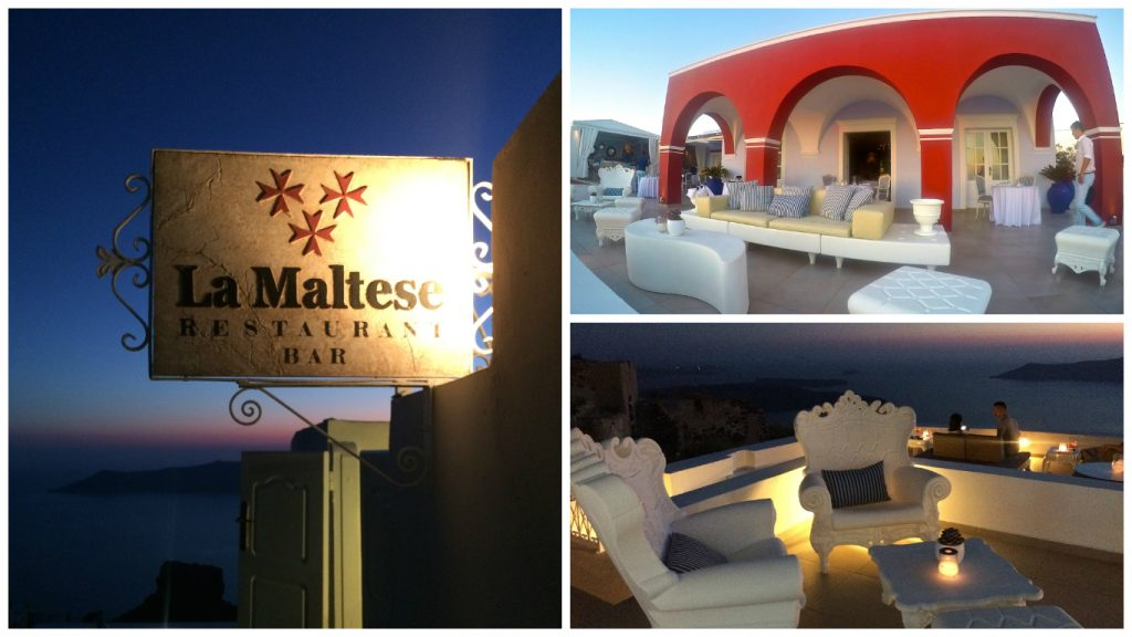 La Maltese Restaurant Bar Santorini Imergolivi
