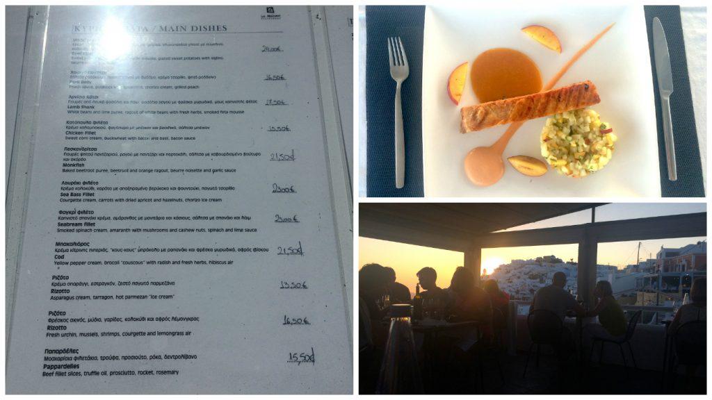 Fine dining at La Maison Santorini