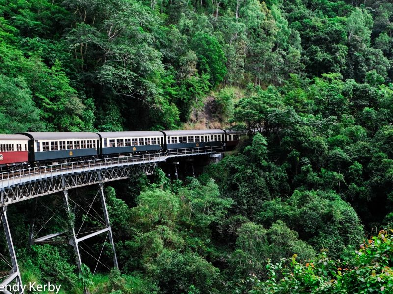 Kuranda+Heritage+scenic+railway+train+rainforest+Queensland