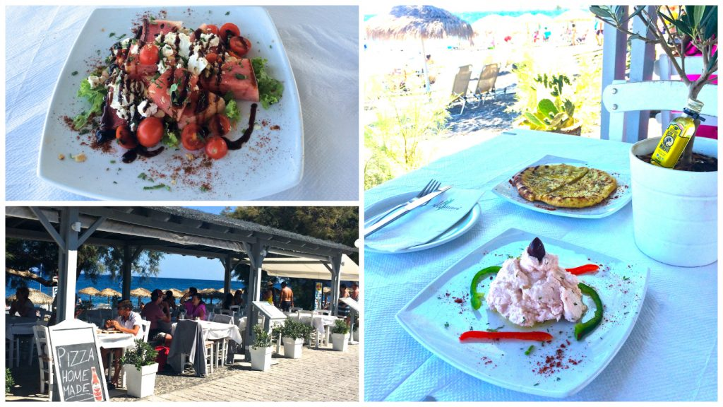 Kamari+Beach+restaurants+watermelon+Salad5