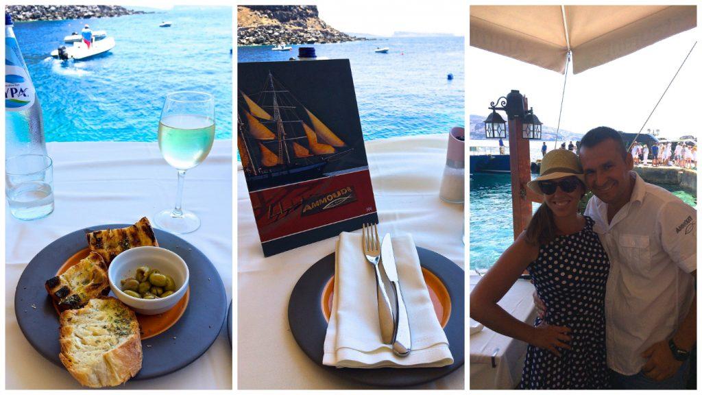 Oia+Santorini+Ammoudi+Bay+Restaurant+Seafood+Port+Menu