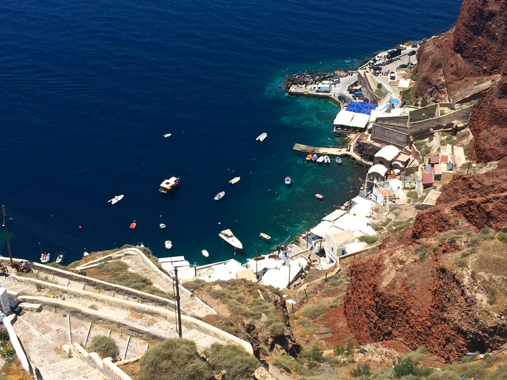 Oia+Santorini+Ammoudi+Bay+Restaurants+Seafood+Port2