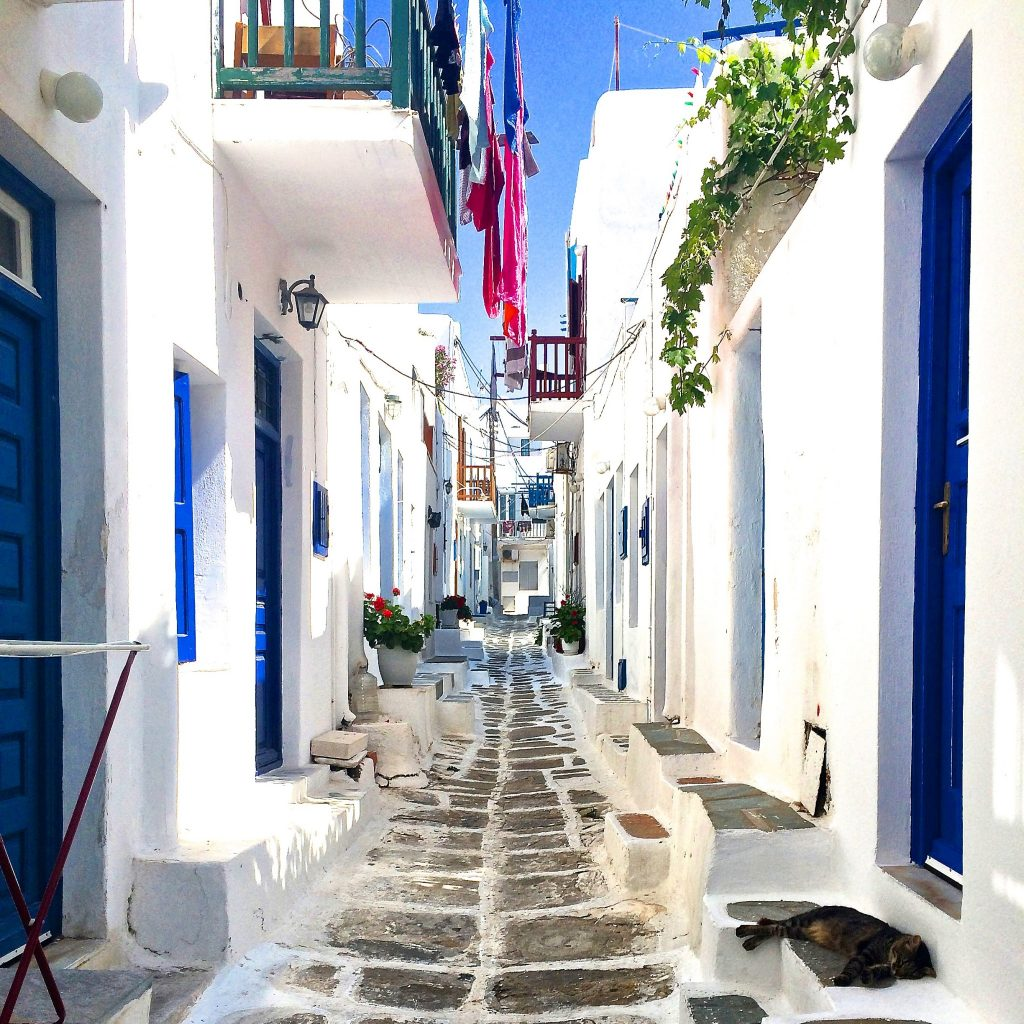 instagramable places in Mykonos Alley Ways