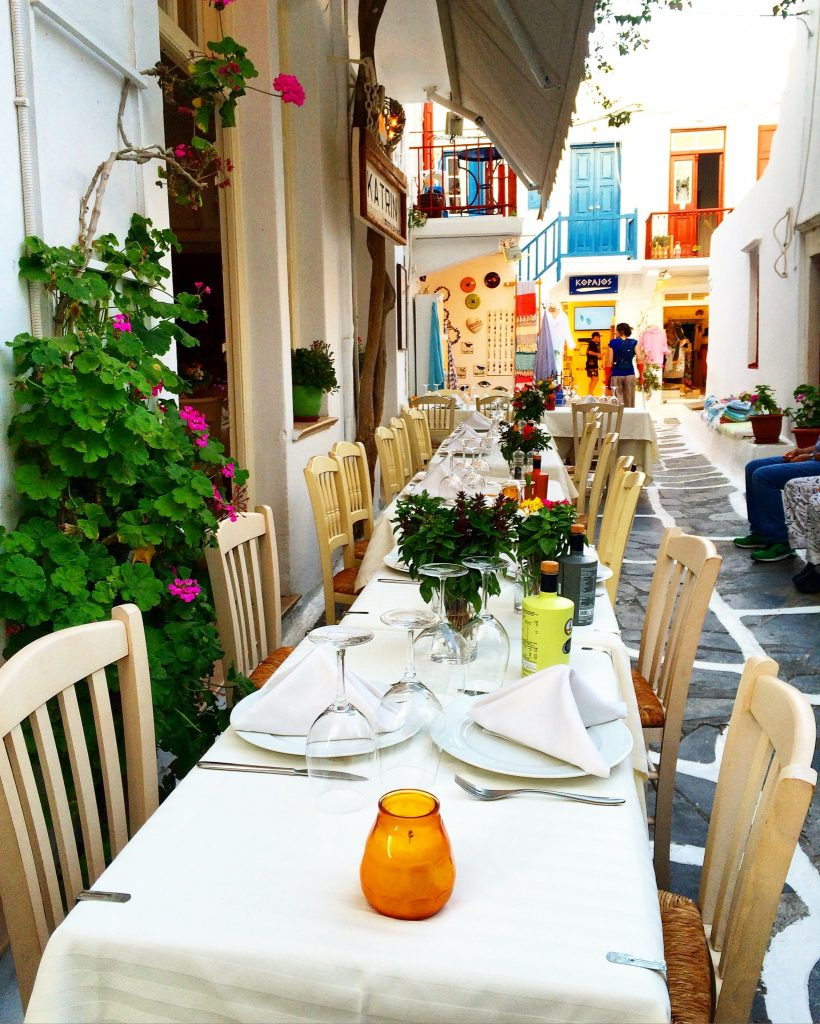 instagramable places in Mykonos Dining