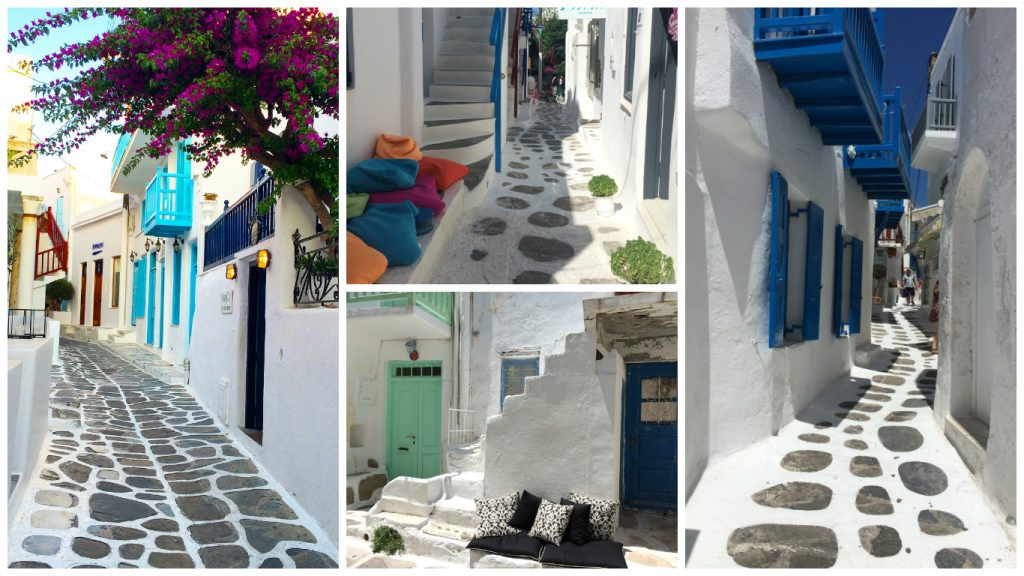 instagramable places in Mykonos laneways