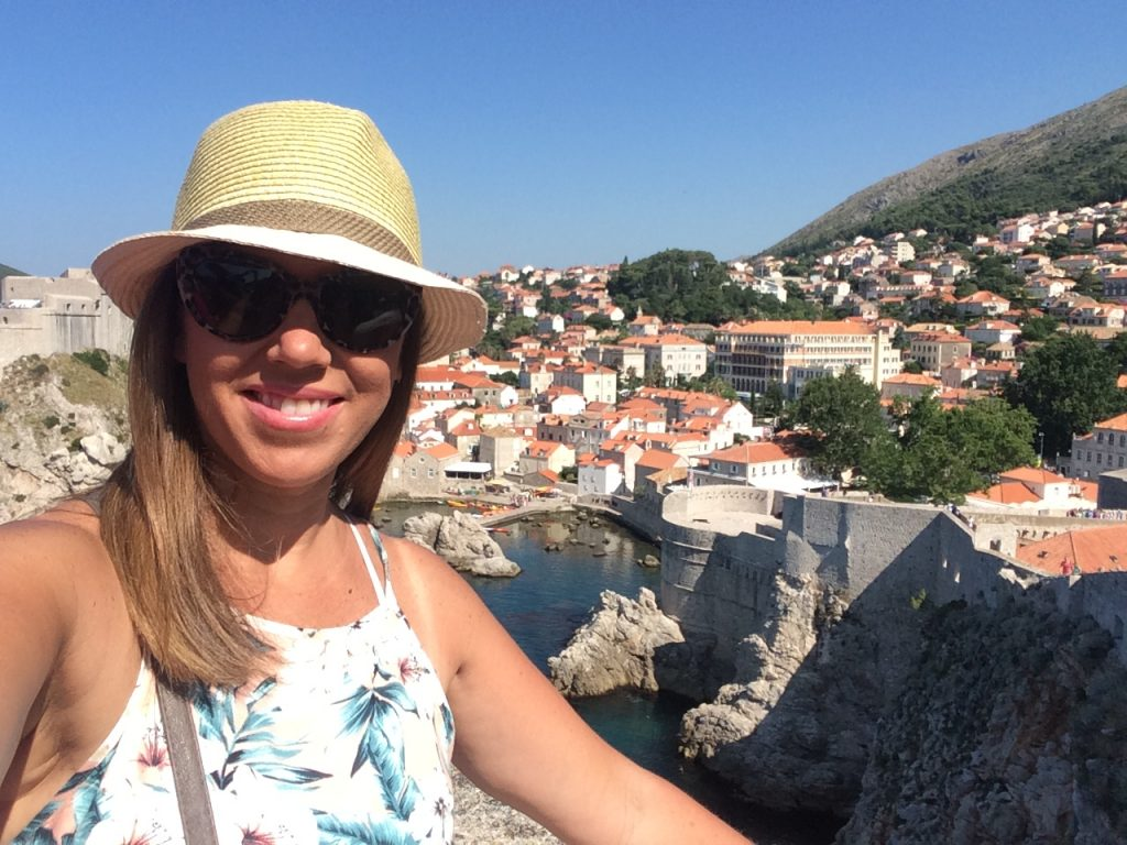 The view walking the walls of Dubrovnik Croatia