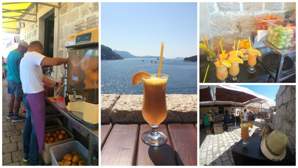 Walking the walls of Dubrovnik Croatia Juice bar cafe
