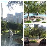 KLCC Park in Kuala Lumpur has beautiful gardens, a kids swimming pool and a nightly show of dancing fountains. Read more here.